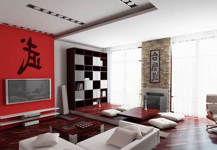 Классика цветового стиля Японии-красное, чёрное и белое.