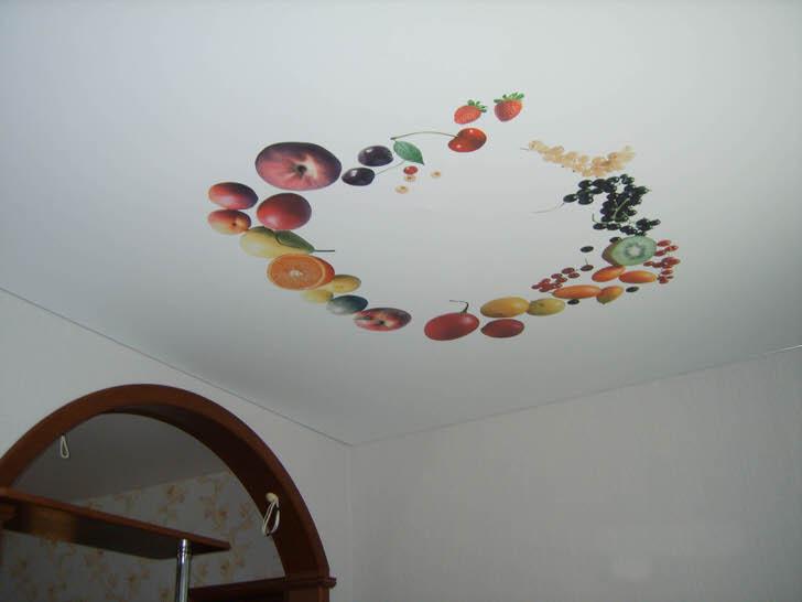 Фруктовая ярмарка на потолке.