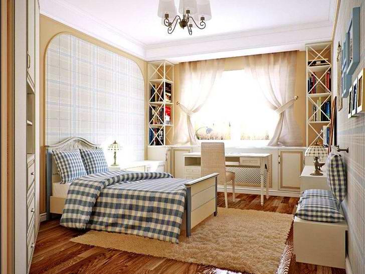 Просторная, светлая комната в стиле кантри в доме где-то в Подмосковье.