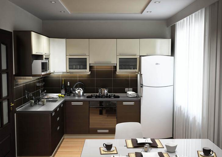 Кухня в стиле хай тек. Лаконичность форм, функциональность мебели.