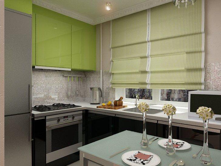 Зеленые навесные шкафы