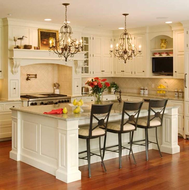 Роскошь стиля модерн в интерьере кухни.