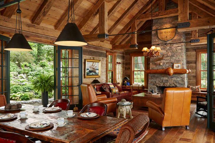 """Мебель для """"грубого"""" скандинавского стиля должна соответствовать стилю интерьера."""