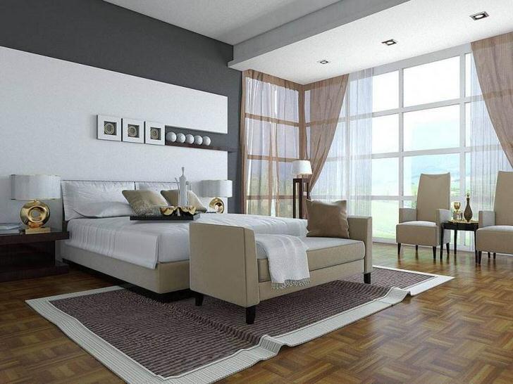 Так выглядит правильно подобранная мебель прямоугольной и квадратной формы в стиле хай-тек.