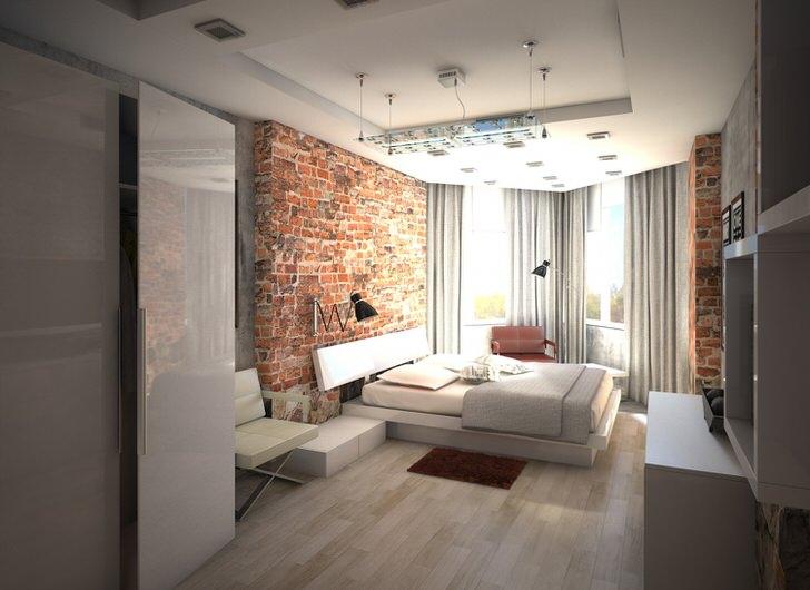 комната в стиле лофт.