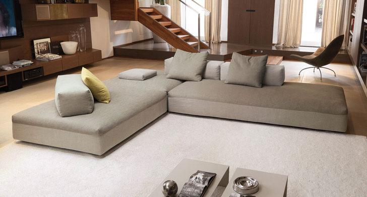Мягкая модульная мебель для интерьера в стиле минимализм.