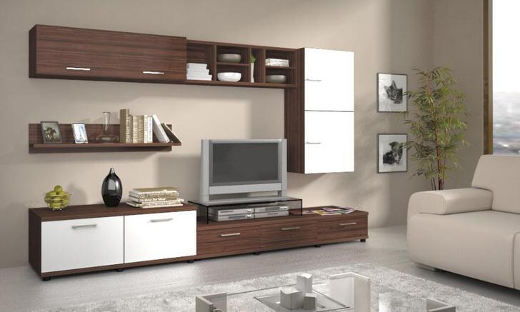 современная корпусная модульная мебель для гостиной