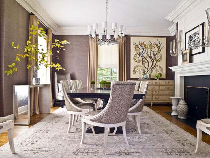 Гостиная в стиле неоклассика. В интерьере элегантно сочетаются простота, скромность и изящность.