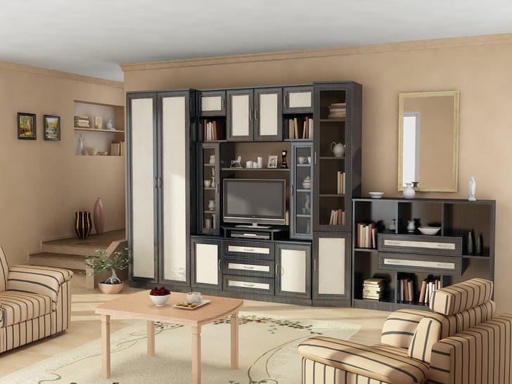 Модульная стенка для гостевой комнаты - отличное решение для уютного и практичного интерьера.