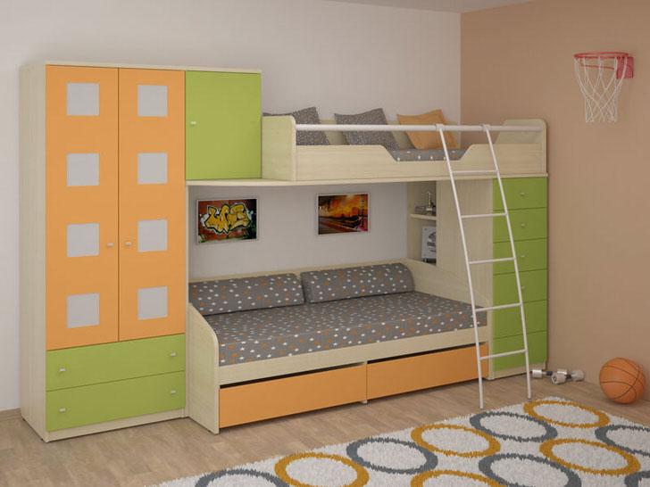 Модульная мебель с встроенной кроватью
