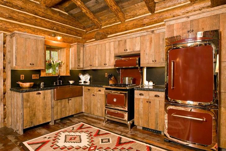 Массивная мебель для деревенской кухни