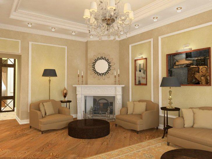 Комната для гостей в стиле неоклассика в большом загородном доме успешного французского бизнесмена.
