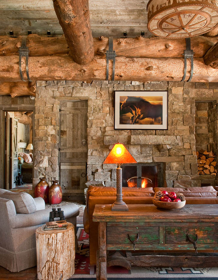 Комната для гостей в деревенском стиле