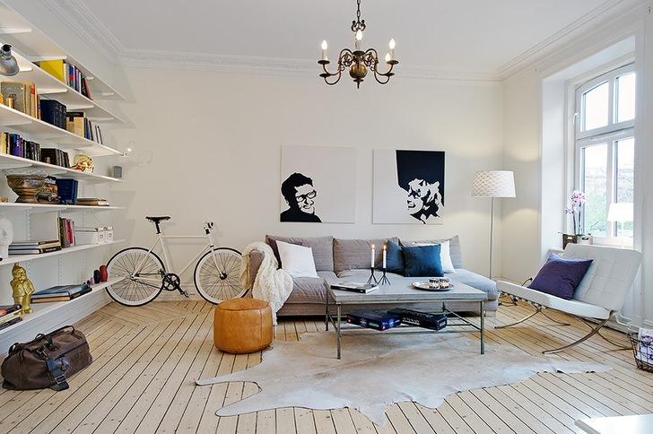 Комната для гостей в доме творческого деятеля Франции.