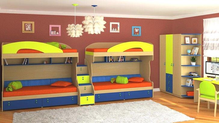 Детская комната на двух детей
