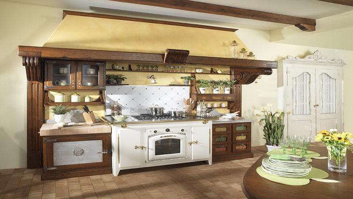 Кухонный гарнитур в стиле деревенский кантри.