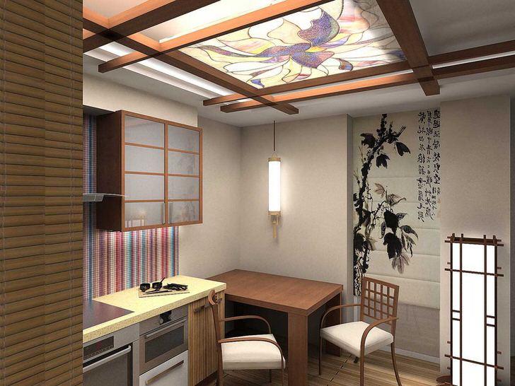 Стильная кухня, как пример того, что 12 квадратных метров также могут быть оформлены изящно и функционально.