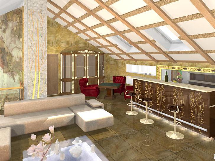 Дизайнерский проект правильно распланированной комнаты для гостей в стиле модерн. Минимум мебели, контрастные сочетания цветов в лучших традициях стиля.