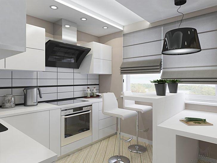 Стиль минимализм идеален для небольших кухонь, где остро стоит вопрос экономии полезного пространства.