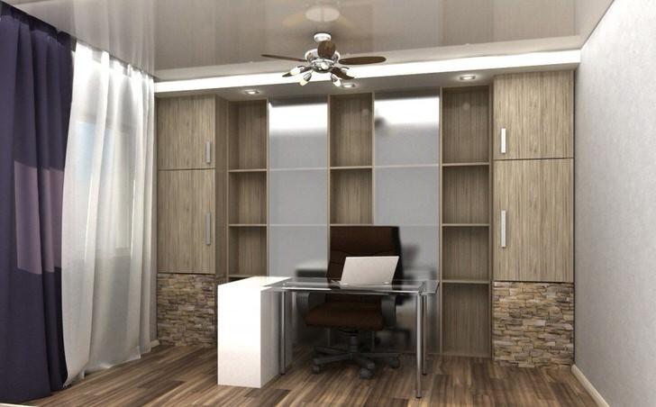 Пример правильно подобранного освещения для офиса в стиле лофт.