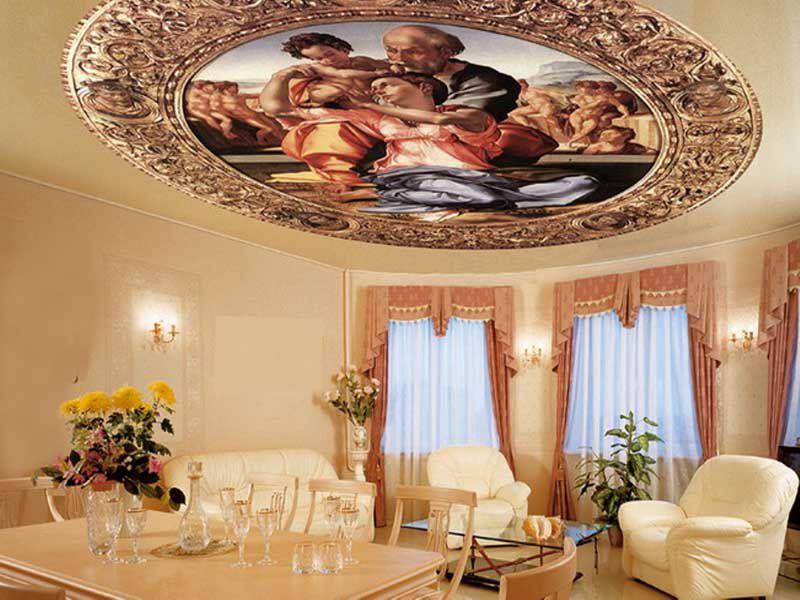 Эксклюзивные натяжные потолки сделаны под заказ влиятельного бизнесмена Москвы.