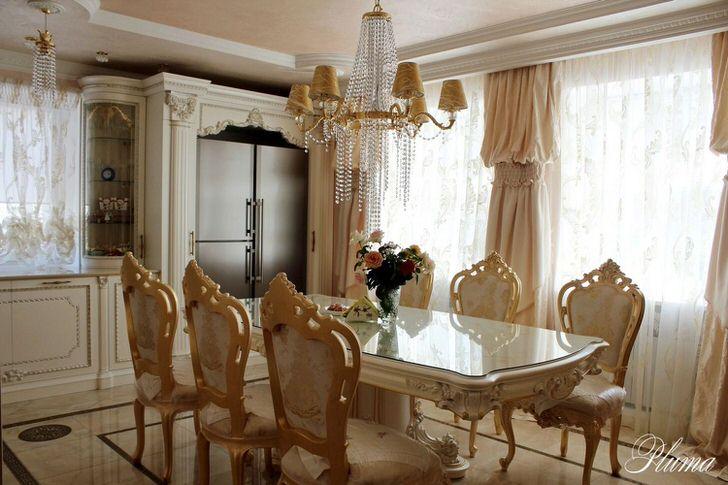 Роскошный стиль в интерьере - кухни в стиле барокко