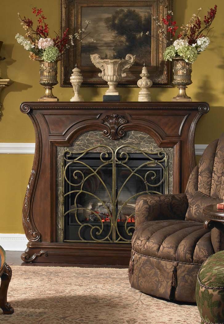 Роскошный портал для камина из дерева