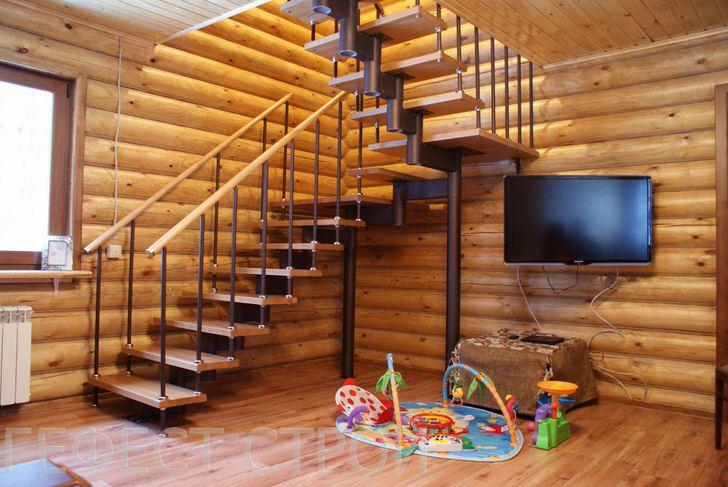 Удобная для всех поколений обитателей дома модульная лестница. Изящная, лёгкая конструкция, экономит место в доме и быстро собирается.