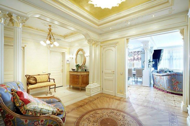 Королевские апартаменты в ампир стиле в обычной московской квартире.