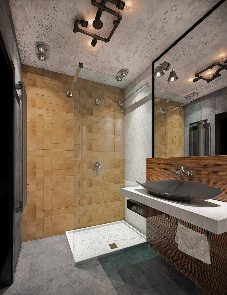 Ванная комната дизайн лофт Экран для ванны фронтальный Cersanit Nike P-PA-NIKE*170
