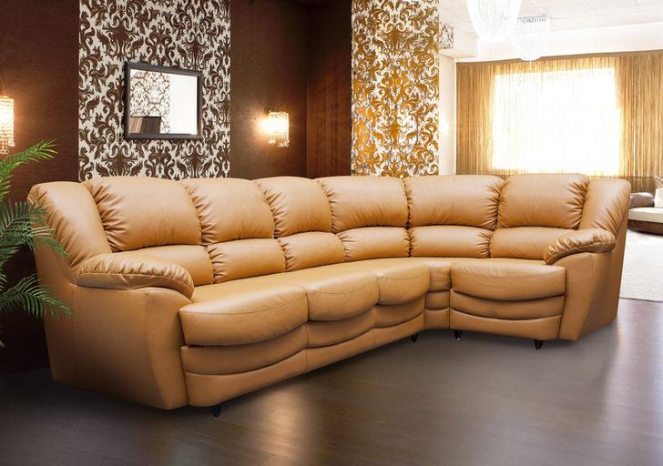 Изящный составной модульный диван для изящной гостиной. Цвет уютного уголка-цвет обивки роскошных кадиллаков премиум класса.