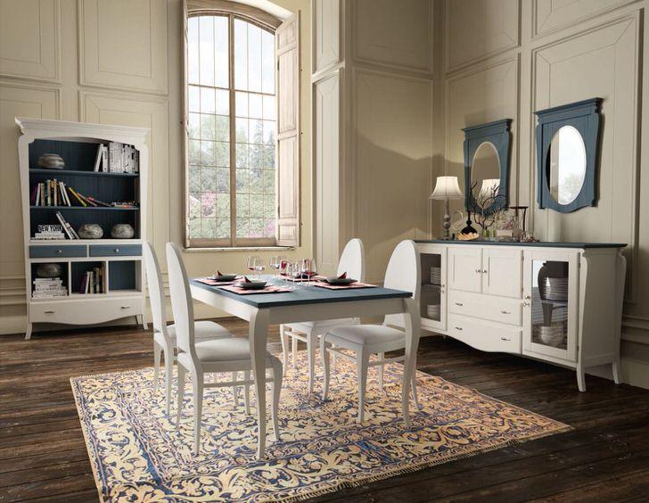 Скандинавский кантри в гостевой комнате. Сочетание синего и белого в интерьере делает обстановку комфортной, расслабляющей.