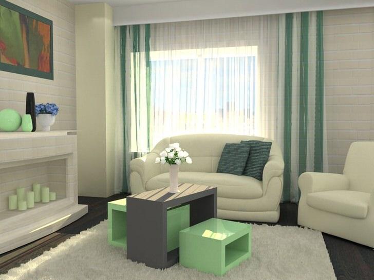 Модный дизайн гостиной хай тек