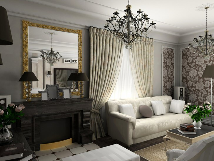Комната для гостей в обычной квартире в Москве.