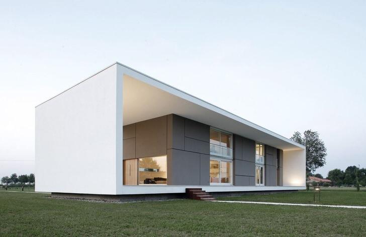 Дизайн дома в стиле минимализм .