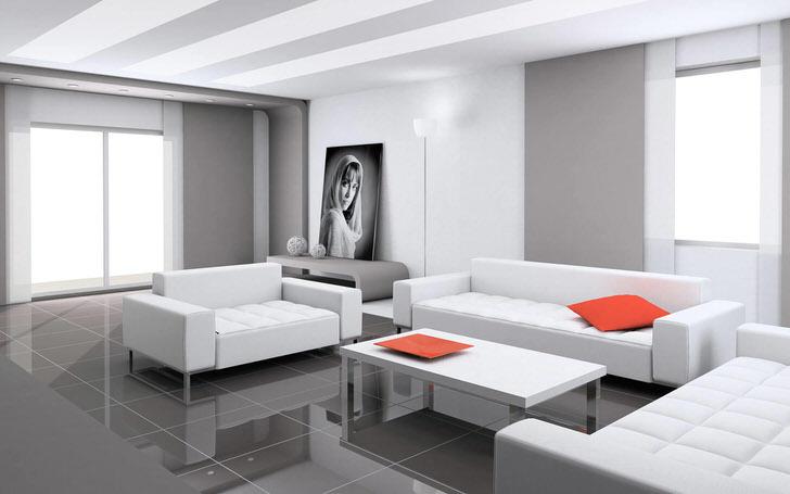Стандартная мебель современного стиля.
