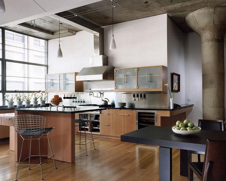 Дизайн квартиры в стиле лофт  100 фото 10 проектов