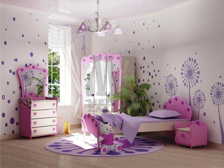 """Стильная комната для маленькой модницы. Мебель в стиле """"Барби"""" - мечта любой современной принцессы."""
