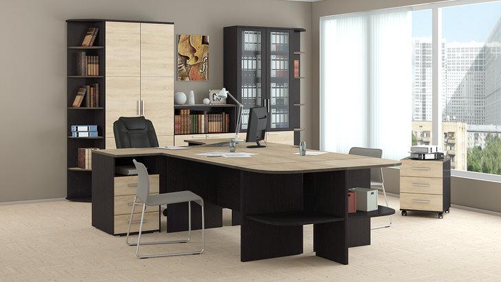 Корпусная мебель - простота, скромность, функциональность и практичность в офисе.