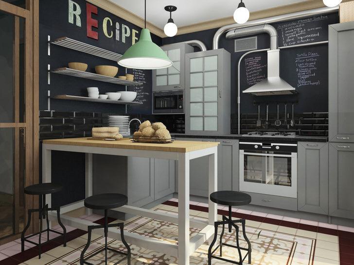 Кухня в лофт стиле в небольшой квартирке начинающего дизайнера.