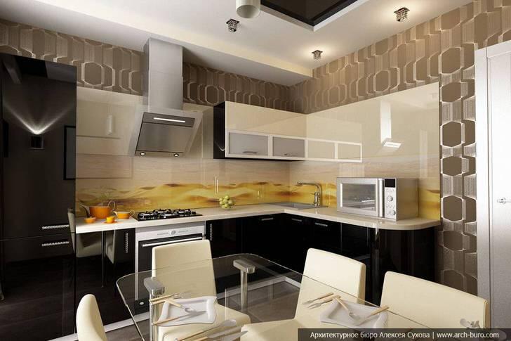 Кухня в стиле хай-тек показывает