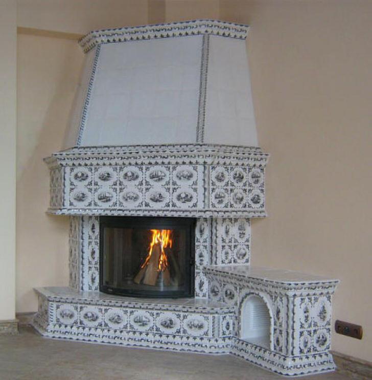 Нежный декор камина