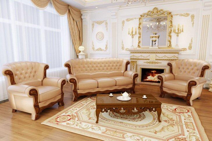 Комната для гостей в стиле барокко .