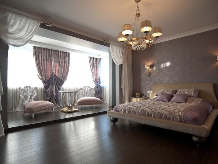 Спальная комната в стиле арт-деко в загородном доме в Лондоне.