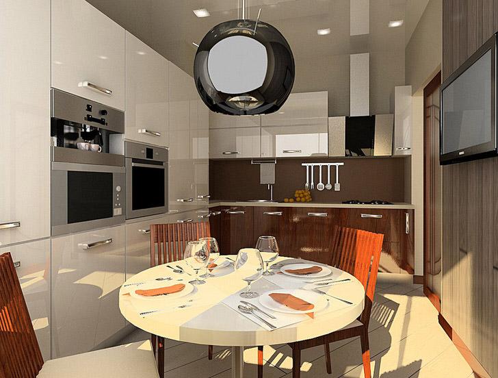 Стиль хай-тек идеален, если речь идет об оформлении небольшой кухни.