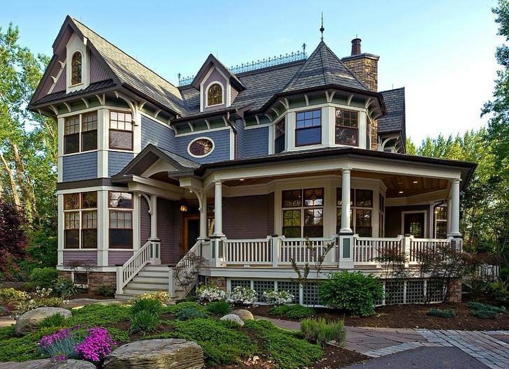 Изящный дизайн дома в стиле рустик.