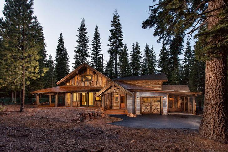 Охотничий домик в стиле рустик - отличный вариант загородной недвижимости.