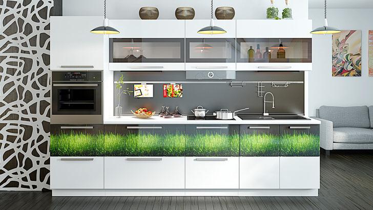 Стильный, современный кухонный гарнитур
