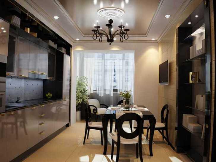 Роскошный кухонный интерьер
