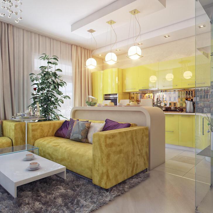 Кухня-гостиная представляет собой отличное, функциональное решение для оформления квартиры, расположенной в современном мегаполисе.